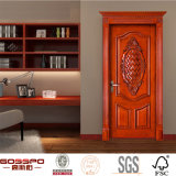 Pièce d'acajou d'appartement découpant la porte intérieure en bois (GSP2-008)