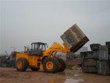 中国の頑丈な40tonsフォークリフトのローダーの石のブロックハンドラー