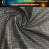 Schwarzes/weißes Garn färbte Gewebe, 1 cm-Gingham-Polyester-Check-Gewebe (YD1182)
