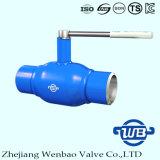 Zhejiang-völlig geschweißtes A106 Kugelventil mit Griff für Gas