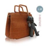 Klassische gesponnene PU-Minihandtasche für Frauen