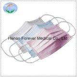 Masque protecteur chirurgical médical de la FDA 510 K de la qualité 3-Ply