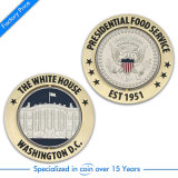 Moneta militare della polizia del premio del metallo dell'oro come regalo