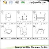 Aluminiumstrangpresßling der Wand-Wäsche-Licht-und LED-hellen Querschnittsansicht-Abbildung