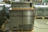 Réfrigérateur commercial de salade d'acier inoxydable avec des tiroirs