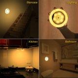 Luz de la noche del sensor de movimiento, 360° Luz giratoria de la noche del LED con el Palillo-dondequiera