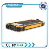 Banco duplo da potência solar do USB 5V 2A 10000mAh