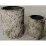 De antieke Ronde Pot van de Planter van de Container van de Bloem van de Tuin van het Tin Openlucht