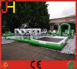 Parque flotante inflable del agua, juguetes del parque del agua para la agua de mar de la playa
