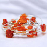 オレンジカエデの葉の形はDimmable USBの低電圧屋内LEDストリングライトをつける