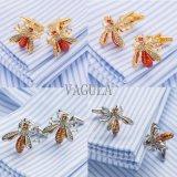 VAGULA 디자이너 꿀벌 커프스 단추 재미있은 커프스 단추 결혼 선물 Gemelos 517