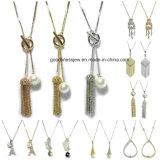 Halsband van juwelen parelde de ImitatieVrouw van de Halsband van de Tegenhanger van het Kristal van de Parel de Bruids Halsband van de Juwelen van de Manier 925 de Echte Zilveren Keten van Juwelen Gouden Halsband plaatste