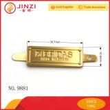 Personnaliser l'étiquette de logo en métal d'étiquette d'étiquette en métal pour le sac à main