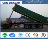 Cimc 3 de Fuwa do eixo da parte traseira do elevador de descarga do caminhão chassis do caminhão de reboque Semi