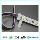 5050 RGBW LEDの滑走路端燈のための10mm 5pin Solderlessのコネクターケーブル