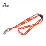 La lanière de polyester plate la meilleur marché avec le clip en métal pour le contact