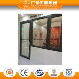 La puerta de aluminio del marco conecta con el desplazamiento de la ventana de cristal de aluminio