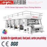 Hoge snelheid 6 de Machine van de Druk van Flexo van de Kleur voor de Verpakking van de Sigaret