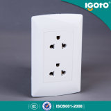 Igoto 미국 유형 두 배 3 Pin 보편적인 소켓 벽 스위치 소켓