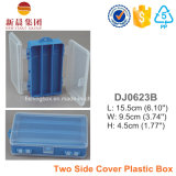 2つの側面カバープラスチック収納箱