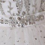 A perlé une ligne robe de mariage de longueur d'étage
