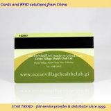 Cartão de sociedade feito do PVC com a listra magnética do Loco (ISO 7811)