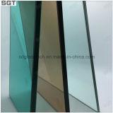 vidrio laminado de 6.38m m con PVB verde