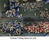 Robinet à tournant sphérique en laiton de l'eau avec le traitement en aluminium (YD-1027)