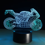 طاولة [3د] درّاجة ناريّة [لد] ليل مصباح