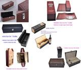 Rectángulo portable del vino de la cartulina rígida de la alta calidad del OEM