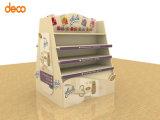 Soporte de visualización de la cartulina de la visualización de la paleta del papel acanalado para la venta al por menor