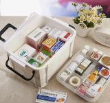 Hotsale de qualidade média de primeiros socorros caixa de medicamentos de plástico Caixa de armazenamento de drogas de impacto forte multifuncional para o lar