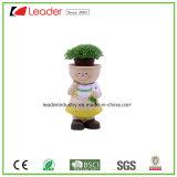 O plantador o mais novo do Figurine da menina do miúdo do jardim de Polyresin para a decoração de Indoor&Outdoor