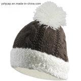 Beanie шлема шлема POM Knit шлема жаккарда изготовленный на заказ связанный POM