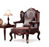 Sofà classico dell'oggetto d'antiquariato dello strato del tessuto con legno per il salone
