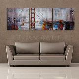 La pintura al óleo del arte de la pared de muebles Grupo con el puente de la decoración del hogar