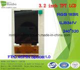 "3.2 "" 240*320 TFT LCD écran RVB, SG9341V, 46pin pour l'POS, sonnette, médical"