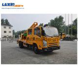 Isuzu 4X2 LHD Leitschiene-Locher-LKW mit hydraulischem Hammer