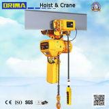 3ton het Elektrische Hijstoestel van uitstekende kwaliteit van de Ketting Brima met Elektrisch Karretje