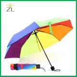Пользовательский логотип для печати рекламных твердых розовый цвет самый дешевый 21-дюймовый красочный небольшой зонтик рекламных подарков для Ladis