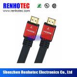 AVI al cable plano del cable HDMI de HDMI con el shell del metal