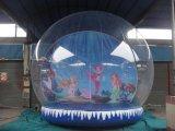 Globo umano della neve, ricordo della sfera della neve, grande sfera gonfiabile del globo della neve