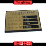 오락 카지노에 의하여 전념되는 테이블 순수한 구리 내기 카드 고급 공장 소켓 모양 작풍 Ym-LC04