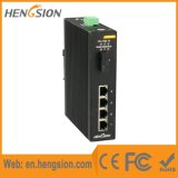 4 Tx 1 interruptor industrial da rede Ethernet da porta do gigabit de Fx