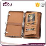 Бумажник кредитной карточки повелительниц способа кожаный с цепью