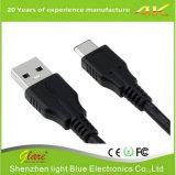 Tipo C do USB 3.1 da alta qualidade um macho ao cabo masculino com escudo do metal