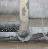 De moderne Zilveren Abstracte Hand van de Kleur - gemaakt Olieverfschilderij voor de Decoratie van het Huis