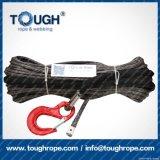 Fibra 100% resistente de Uhwmpe da corda da corda sintética cinzenta do guincho da cor 6mmx15m4X4