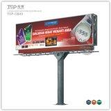 Grand Pôle de plein air double faces Boîte à lumière, panneaux publicitaires Trivision