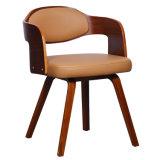 En simili-cuir chaise de salle à manger en bois cintré W15837-4